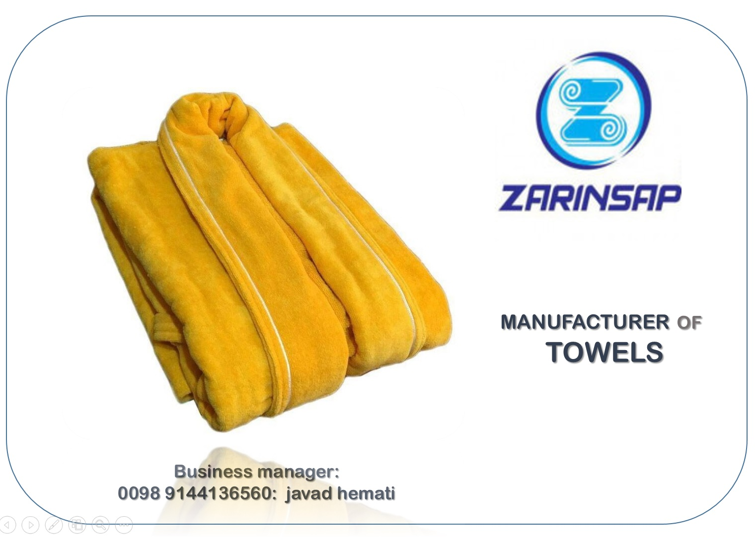 Manufacturer of tunic towels