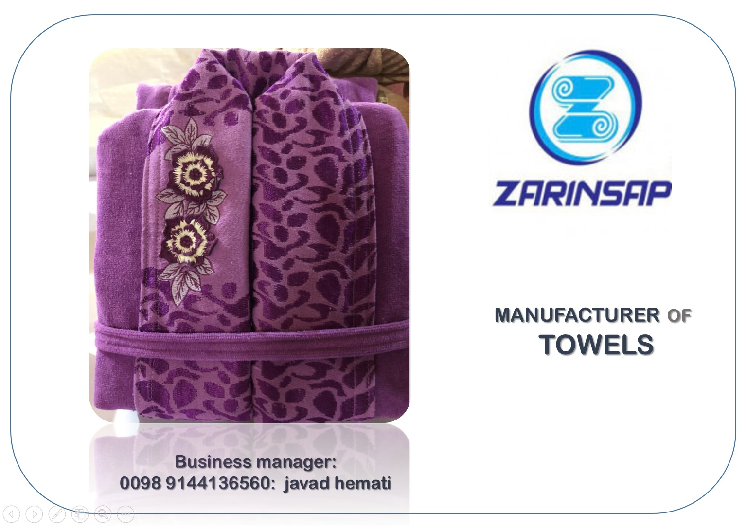 Custom towel manufacturer